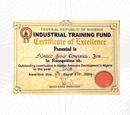 Certificate of Excellence 2003 – Industrial Training Fund (ITF)